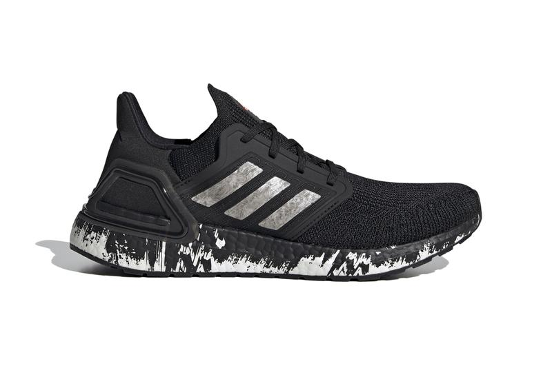 adidas ultraboost 20 marble splatter core black cloud white signal coral EG1342 release date info photos price