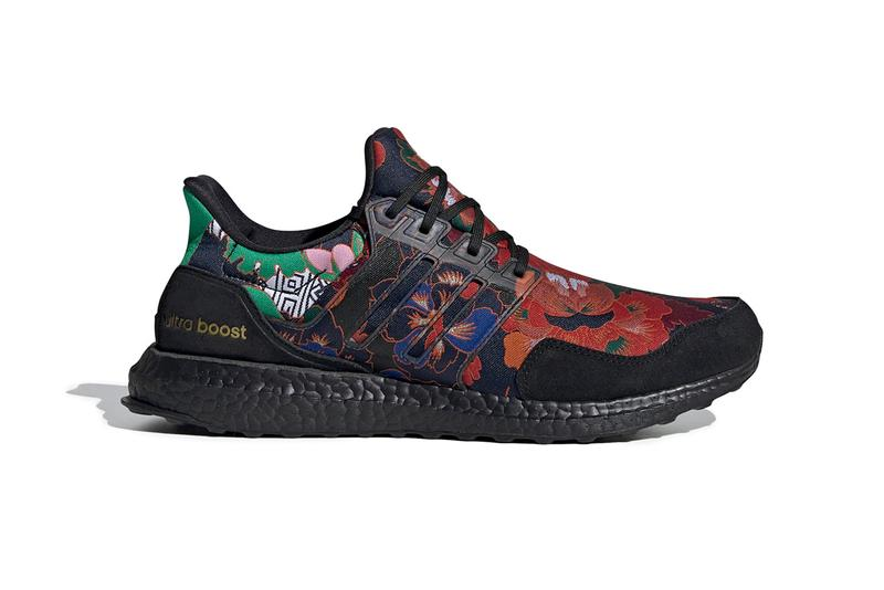 """adidas UltraBOOST Dna """"Yuanxiao"""" Sneaker Colorway lantern festival lunar new year chinese shoe flower embroidery core black scarlet FX1061"""