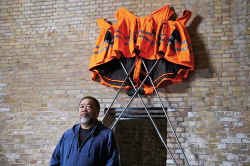 Ai Weiwei Creates 'Safety Jackets Zipped the Other Way' Artwork