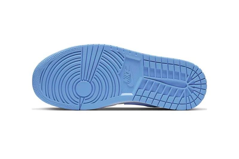 Nike Air Jordan 1 Low UNC University Blue White AO9944 441 footwear shoes sneakers menswear streetwear kicks runners trainers basketball spring summer 2020 collection jumpman