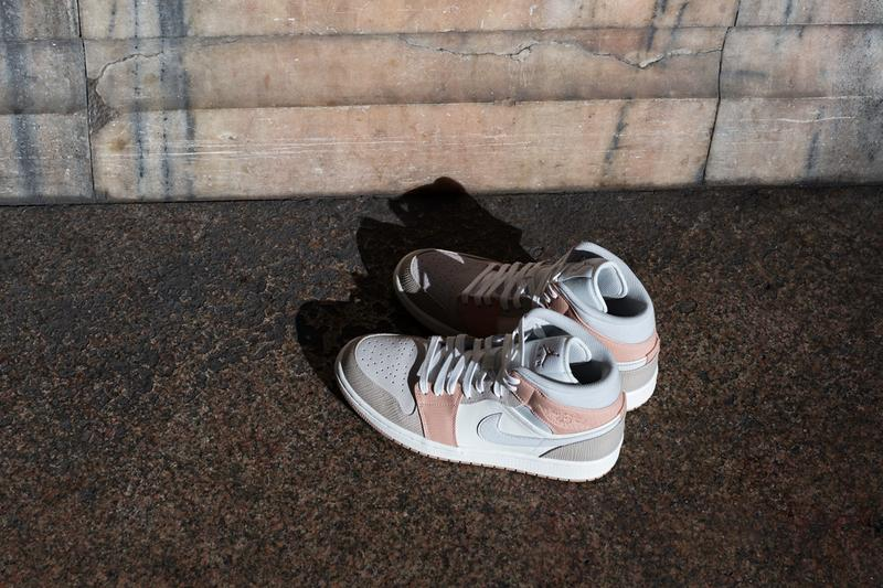 air jordan brand 1 mid milan italy one block down sculpture architecture CV3044 100 sail light bone string shimmer