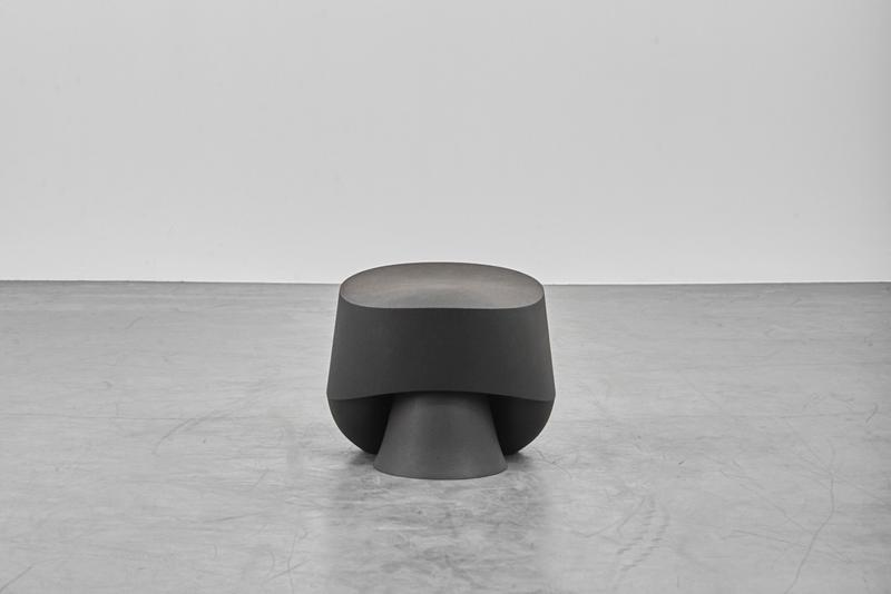 "Aldo Bakker ""Slow Motion"" Solo Exhibition Carpenters Workshop Gallery Paris Furniture Dining Table Stool 'Weight/Wait' 'Long Lasting' 'Sitting Table' Stone Urushi"