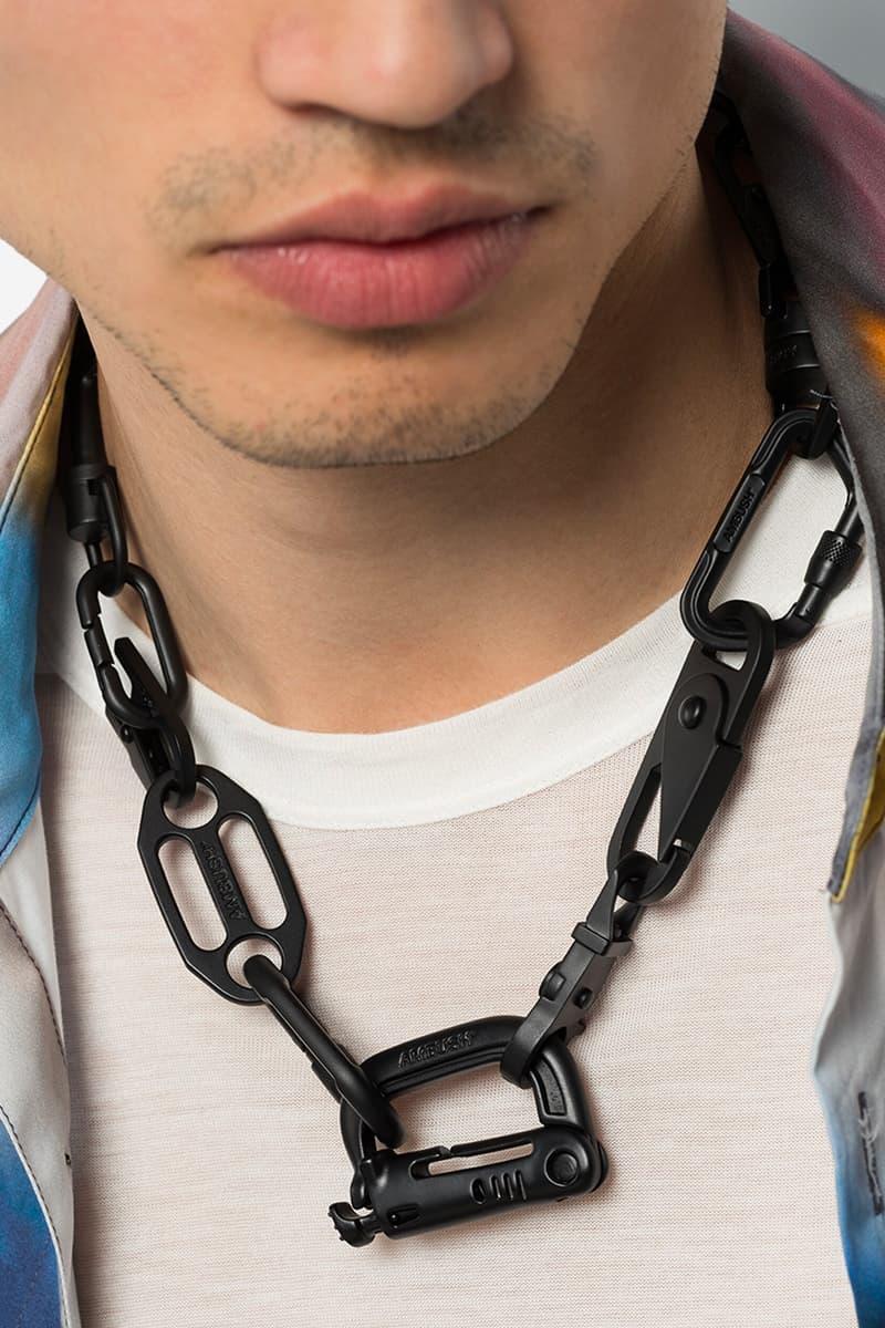 AMBUSH Carabiner Chain Necklace Release Info Buy Price Black Browns