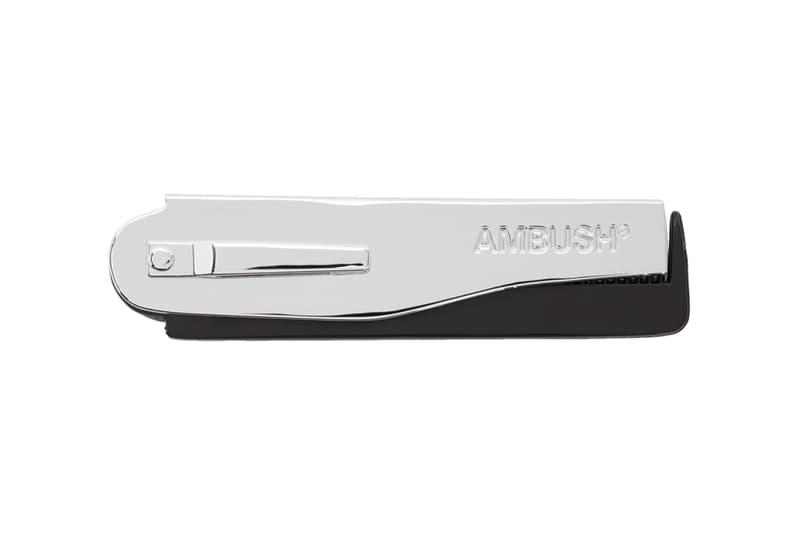 AMBUSH Logo Comb Release Info Buy Price Black Silver SSENSE