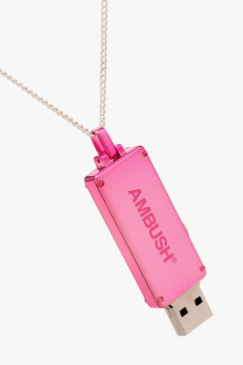 AMBUSH USB Pendant Necklace Release Price Info Buy Pink Sterling Silver