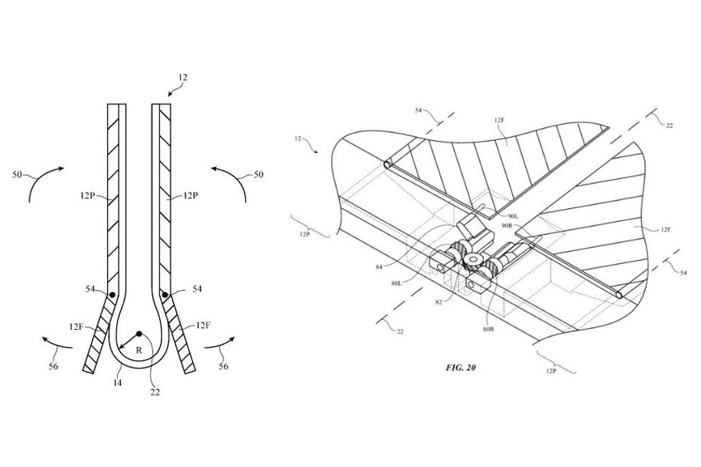 アップル Apple が折りたたみ式ディスプレイを備えた iPhone の特許を取得した事が明らかに Patent Reveals Apple Working on Folding iPhone Display smartphones tech