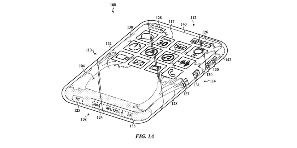 Apple Patents All-Glass iPhone With Wraparound Screen