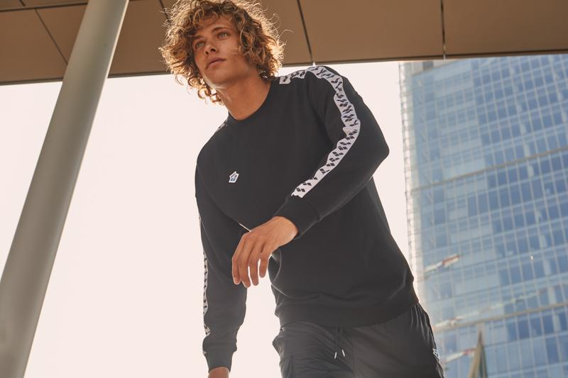 arena athleisure lifestyle ss20 icons collection track pants t-shirts logo branding horst dassler italian swimwear urban