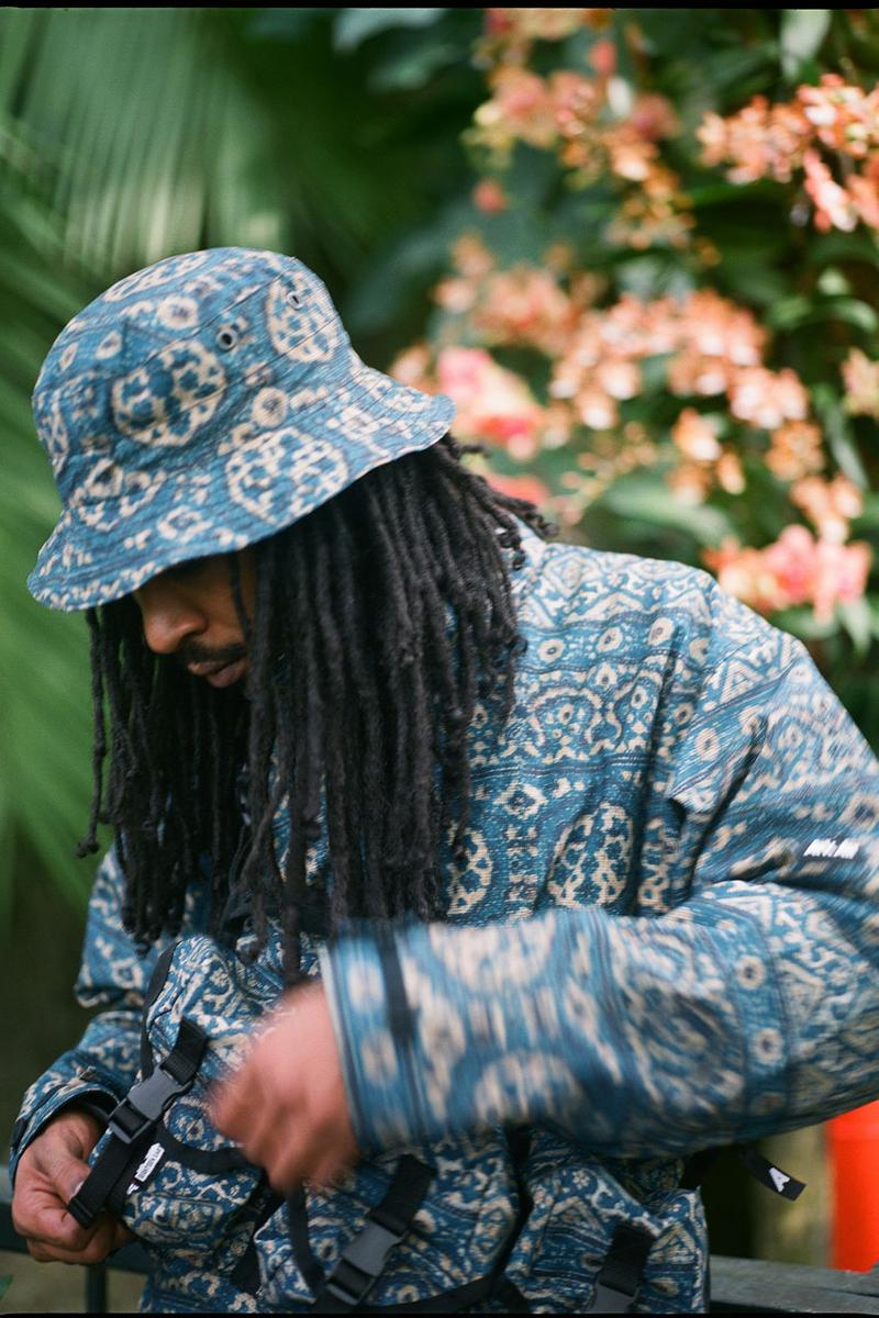 arkair 18 east collaboration collection ss20 capsule indian arjak print anorak chest rig boonie hat