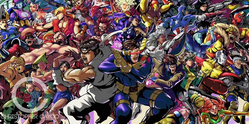 Watch This Artist Illustrate Every Character From 'Marvel vs. Capcom' Series