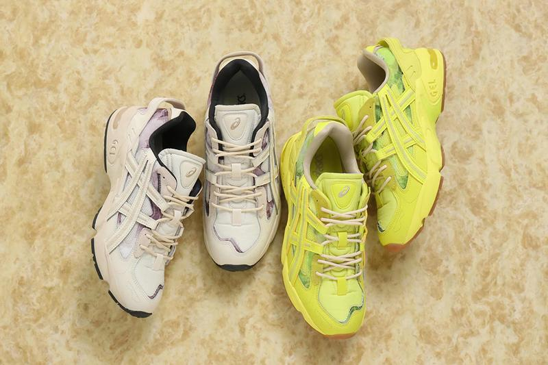 ASICS GEL Kayano 5 RE Yellow SYZ Beige BCH spring summer 2020 collection footwear shoes sneakers trainers runners kicks og materials generation series 1021a411 200 1021a411 750