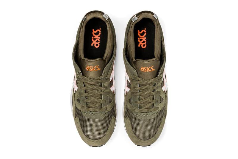 ASICS GEL Lyte V Mantle Green white orange silver footwear sneakers shoes runner trainers kicks menswear streetwear spring summer 2020 collection suede gel cushioning athletic