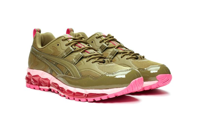 GmbH ASICS gel nandi 360 release information buy cop purchase black olive khaki pink release information berlin sneakersnstuff 1021a415-300 1021a415-001