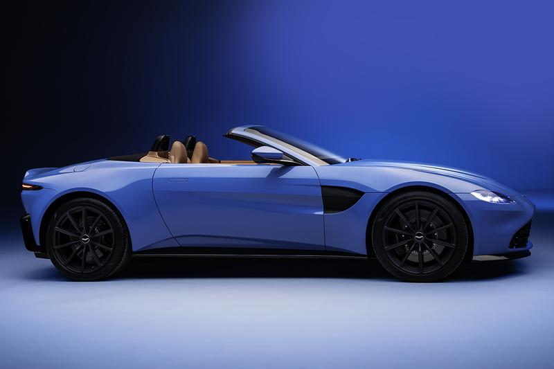 Aston Martin Vantage Roadster Unveiled First Look Mercedes-AMG Sourced V8 Engine Fastest Convertible Folding Roof in the World Sub-7 Seconds Drop Top British Automotive Manufacturer Supercar Sports Car News Announcement