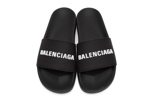 Balenciaga Preps a Set of Two-Tone Logo Pool Slides