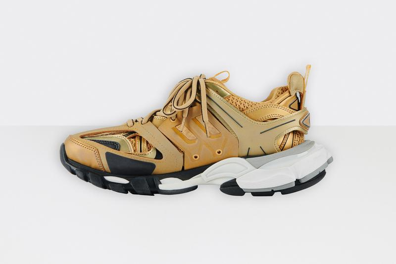 balenciaga track 2 gold white black chunky shoe sneaker release date info photos price
