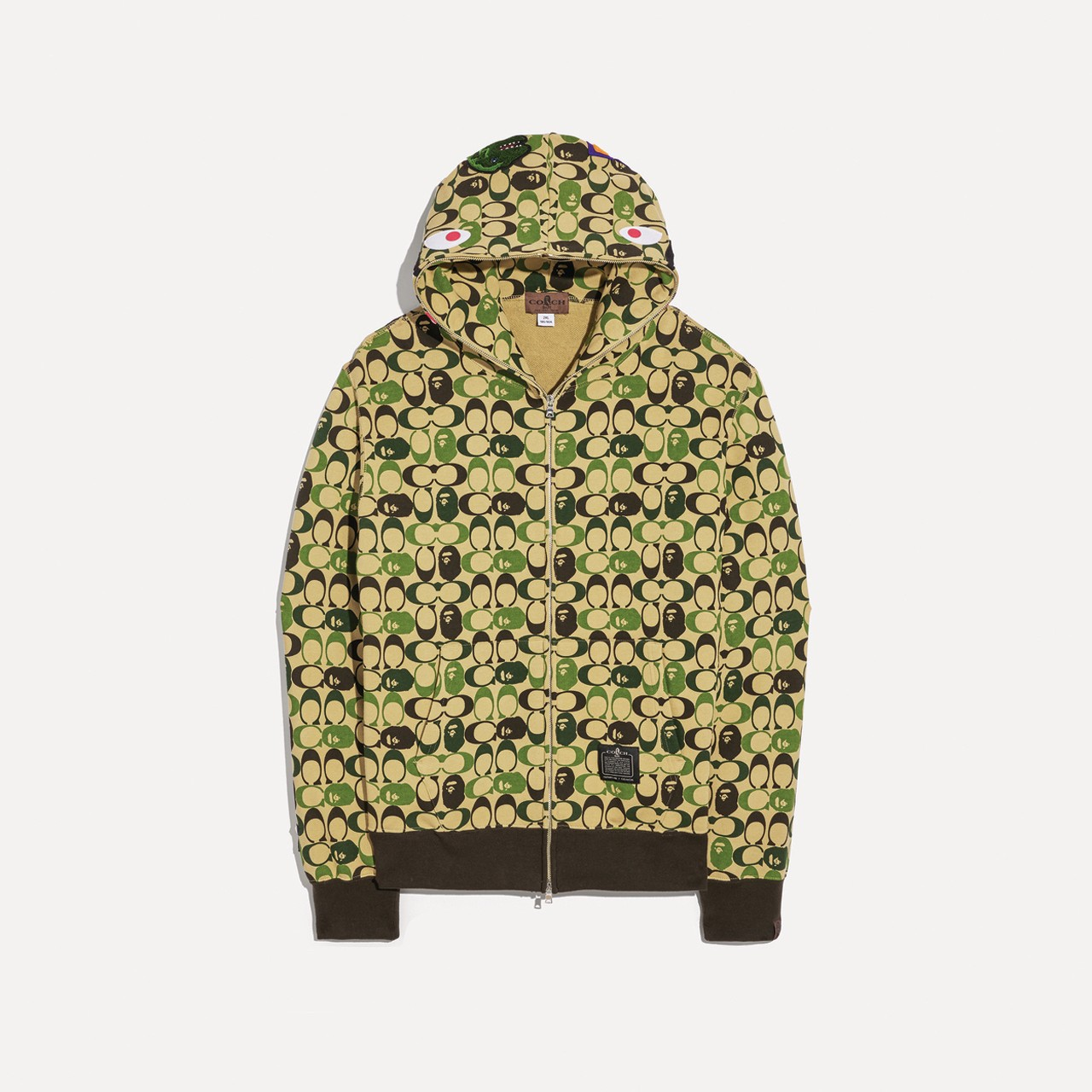 BAPE x Coach Collaboration Collection Lookbook Collaboration Puffer Jacket Crossbody Bag