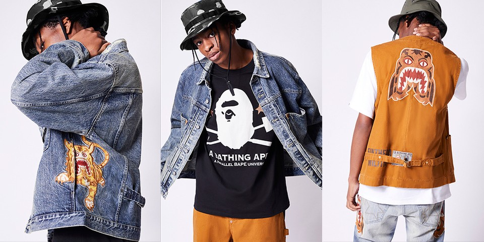 """BAPE Looks to 19th Century Workwear for """"Gold Rush"""" Denim Collection"""