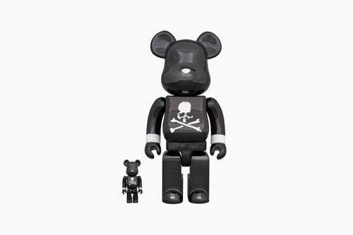"mastermind JAPAN x Medicom Toy ""Black Chrome"" BE@RBRICK 100% & 400%"