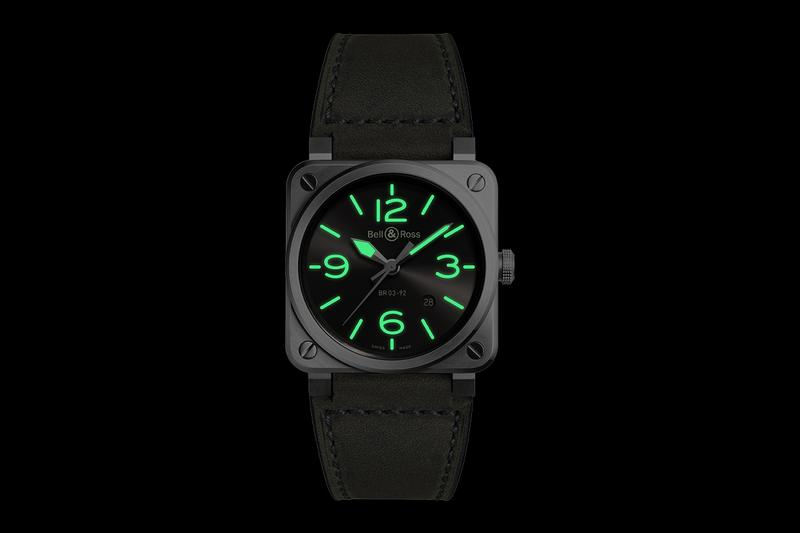 bell and ross br 03 92 grey lum watches accessories reference swiss made french design aviation military