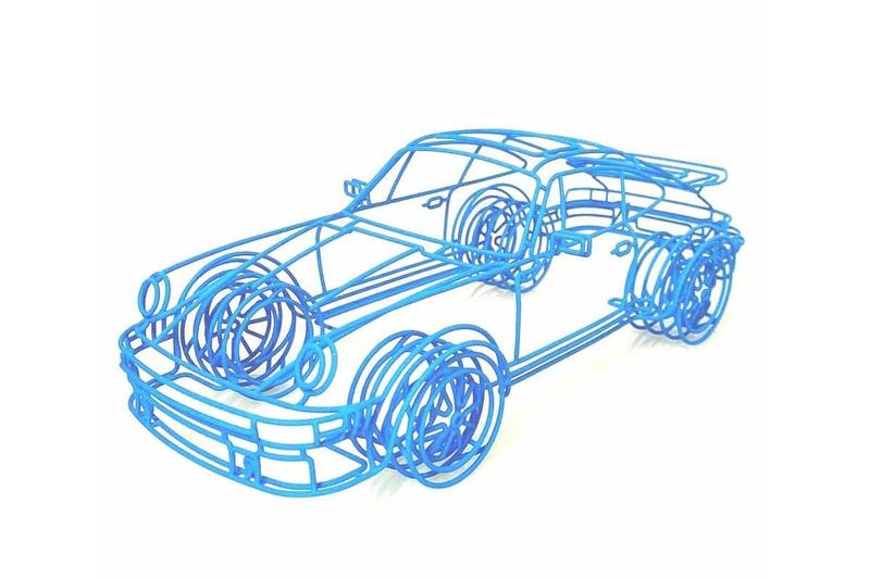 benedict radcliffe blueprint porsche wire sculptures