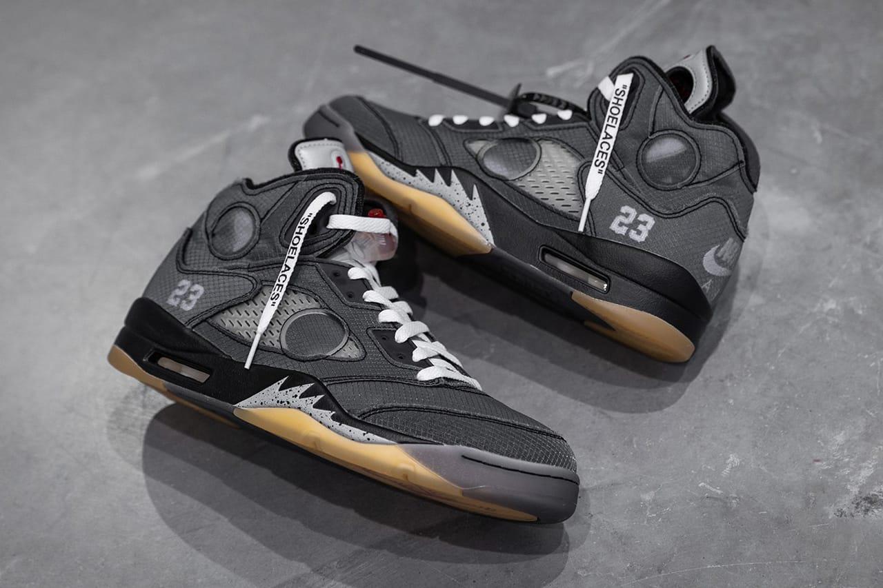 black and white jordans 5