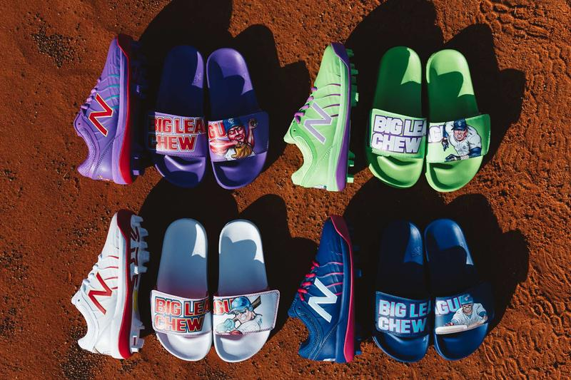 big league chew new balance baseball cleats national bubble gum day francisco lindor outta here original ground ball grape big rally blue raspberry swingin sour apple release date info photos price