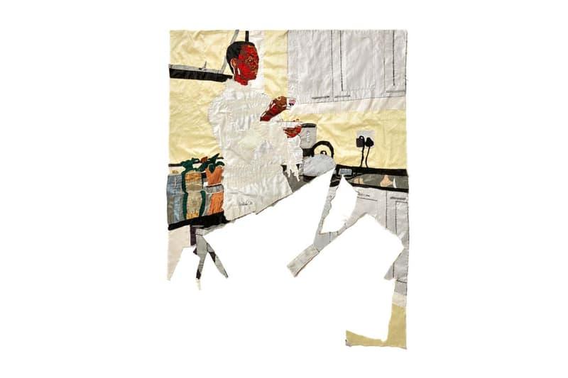 billie zangewa soldier of love exhibition galerie templon paris embroidered silk