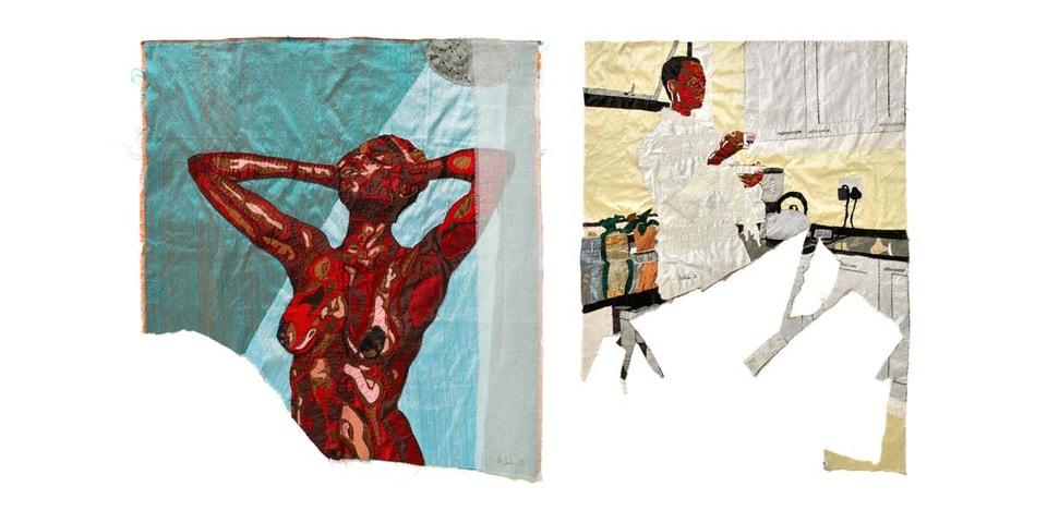 """Billie Zangewa's """"Soldier of love"""" Exhibition Presents Intricate Silk Embroideries"""
