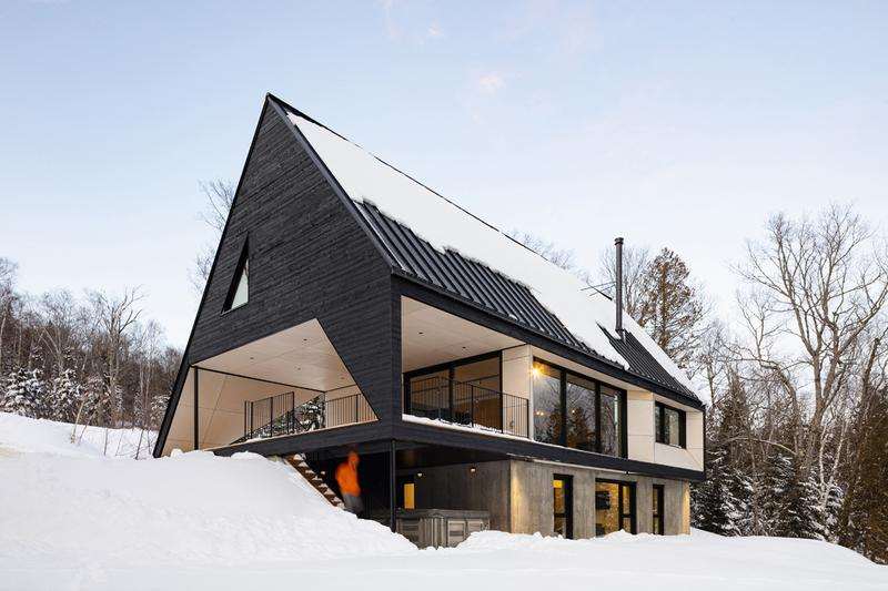 Bourgeois Lechasseur Architects Cabin A Opening Design Charlevoix Region Québec Canada Triangle Wood