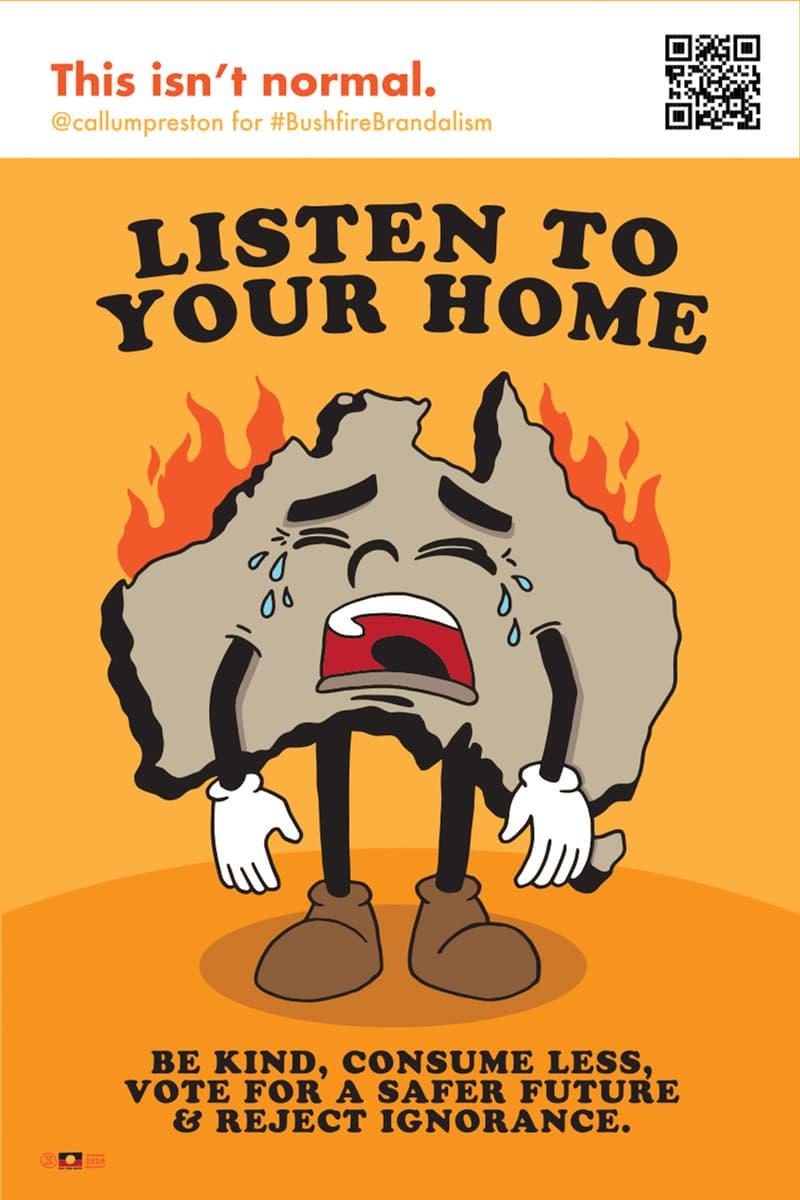 Bushfire Brandalism Advertising Art Campaign Australian Wildfires Posters Designs Bushfires Advertising Koalas