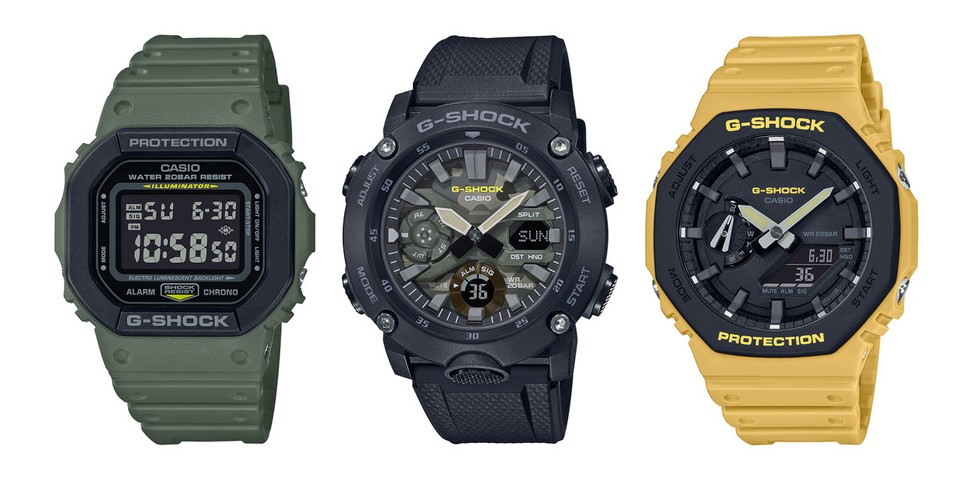 "G-SHOCK Toughens up DW-5600 and GA-2000 Models With ""Utility"" Colorways"