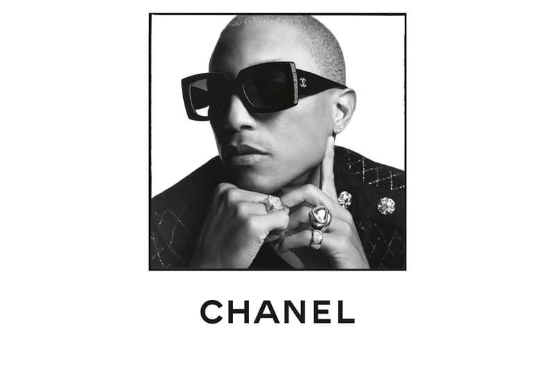 chanel spring summer 2020 eyewear campaign pharrell williams isabelle adjani margaret qualley sebastien tellier angele