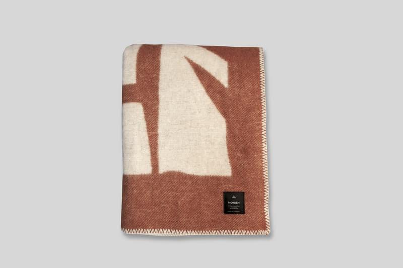 Norden x Cody Hudson 'Enlightenment' Blanket Custom Jacquard Cotton Wool Terracotta Black SWISH Projects