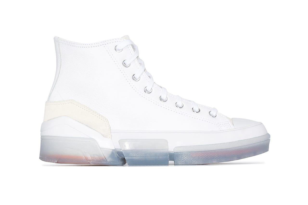 converse platform white leather