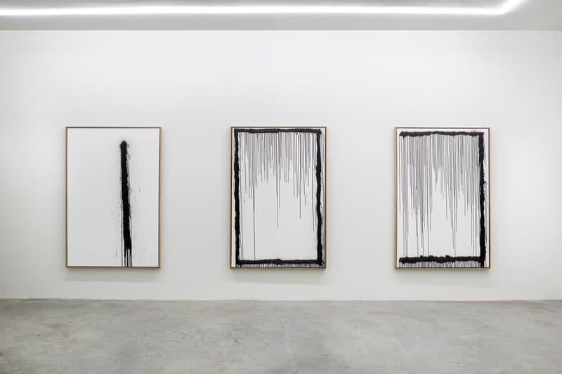 "Craig Costello ""New Work"" Solo Exhibition Eighteen Gallery Paintings Black White Graffiti"