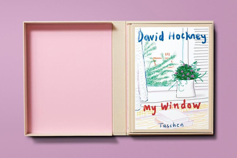 Taschen Books 'David Hockney. My Window' iPad iPhone Drawings Flowers Vases Plants Houses Window Yorkshire