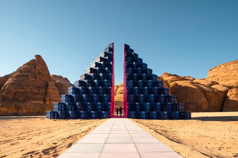 Desert X AlUla Site-Specific Installations Sculptures Trampolines Rocks Pyramids Structures Canyons Wood Glass Plastic Pallets