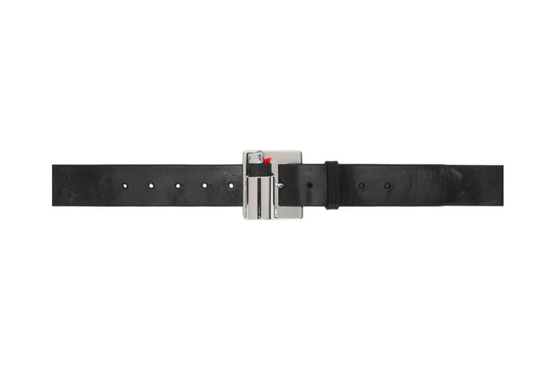 D'heygere Lighter Belt Release Info Black Silver SSENSE