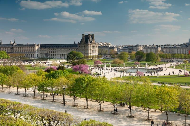 Tuileries Garden Paris France Louvre Place de la Concorde Trees Sculptures Statues Public Park