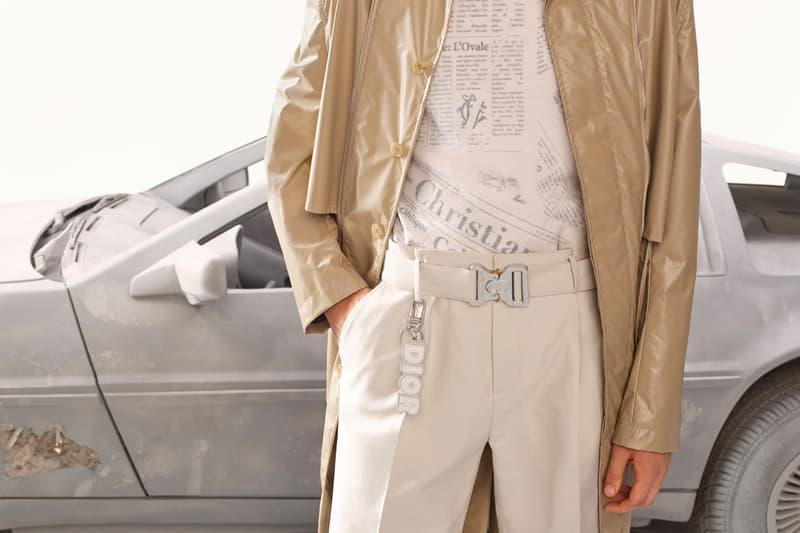 Dior Men rework reissue iconic newspaper print Spring Summer 2020 Kim Jones Daniel Arsham millennium haute couture y2k 2000 temporal project future 3020 newspaper