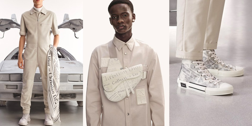 Kim Jones and Daniel Arsham Rework Iconic Newspaper Print for Dior Men SS20