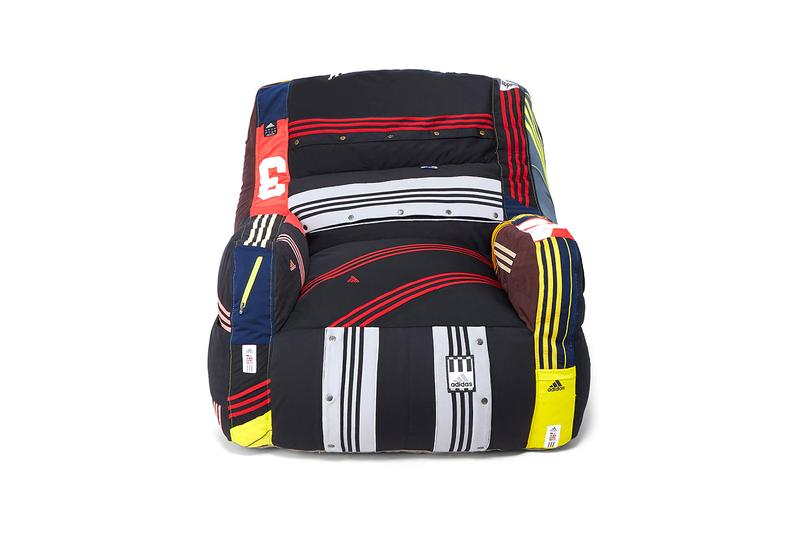 RxCylcle: DRx for LN-CC adidas Tracksuit Bean Bag Chair Design Homewear Items Recycled Program Vintage Garments Upcycling Furniture Hand Made Los Angeles LA