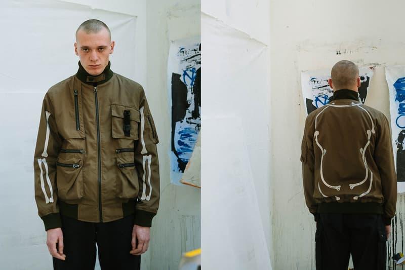 Elhaus Fall/Winter 2020 Lookbook Collection Jackets Pants Crewneck Sweatshirts Hoodies Green Black Brown Utilitarian Shirts Bones Yellow