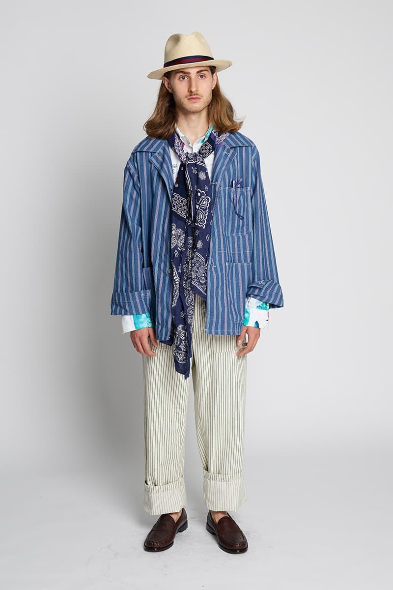 Engineered Garments Workaday Spring Summer 2020 Lookbook vintage americana indigo dye coats jackets workwear retro nepenthes daiki suzuki new york city menswear streetwear bespoke sartorial