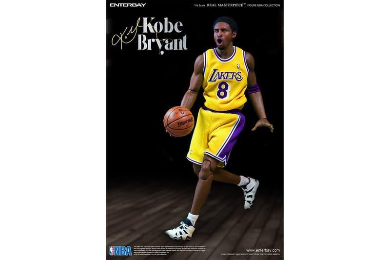 "ENTERBAY Relaunches Kobe Bryant ""Real Masterpiece"" Series black mamba basketball nba Lakers LA Lakers Los Angeles Lakers"