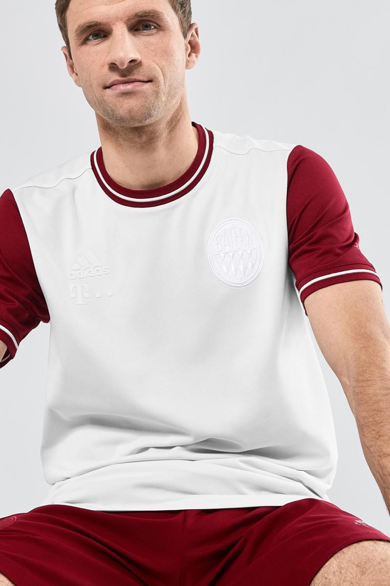 Bayern Munich 120th Anniversary jersey adidas football soccer release information 1932 muller gnabry alaba first look buy cop purchase