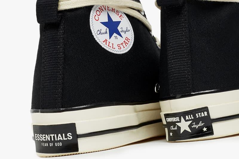 fear of god essentials converse chuck 70 hi high black egret natural white 167954C release date info photos price