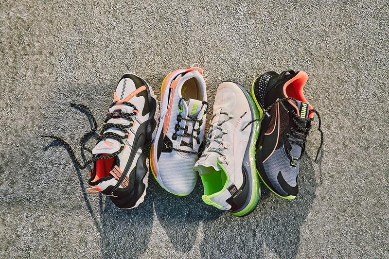 First Mile x PUMA Sustainable Footwear Collection Release Information First Look Announcement Recycled Polyester Fabrics Clothing Line Sportswear Capsule