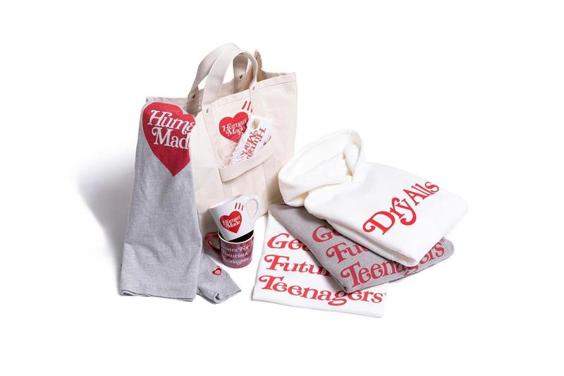 """Girls Don't Cry x HUMAN MADE Valentine's Day 2020 Capsule Collection Release Information Limited Edition Garments Unisex For Him For Her Gift Ideas Verdy NIGO """"Gears for Futuristic Teenagers"""" """"Dry Alls"""""""